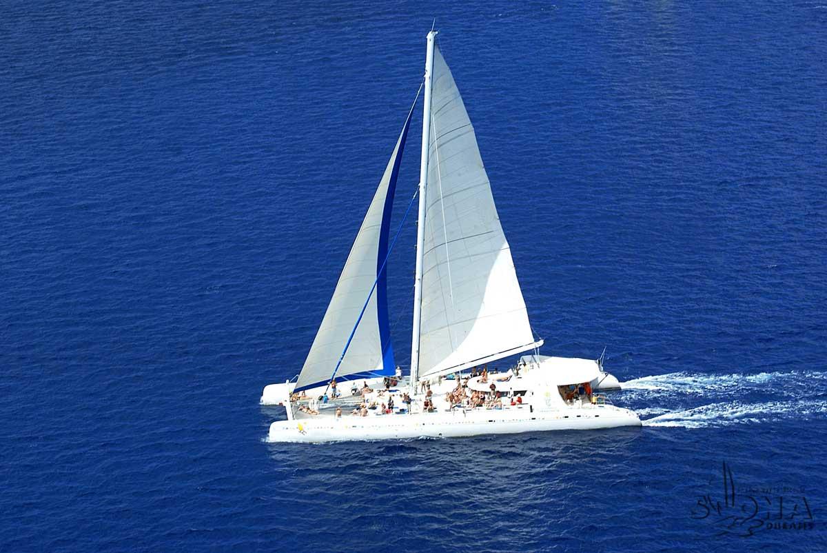Big Sailing Catamaran For Private Charters In Bayahibe Wannaboats