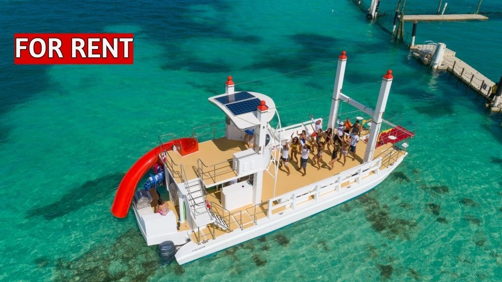 party-catamaran-boat-for-rent-in-punta-cana-with-slide